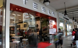 Tesla Shopping Center Dealership Raises Legal Questions