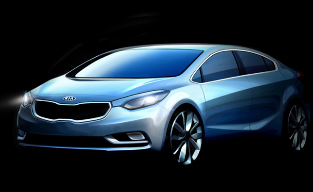 2014 Kia Forte Teased in Sketches