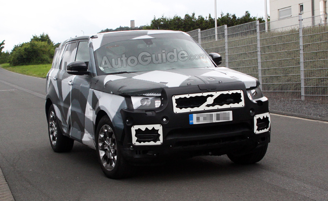 2014 Range Rover Sport Spy Photos in Light Camo