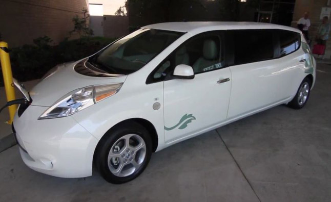 Nissan Leaf Limo is Luxurious Electric Shuttle- Video