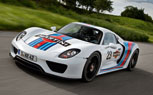 Porsche 918 Spyder Revealed in Martini Livery