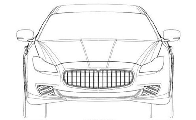Maserati Quattroporte Patent Drawings Revealed