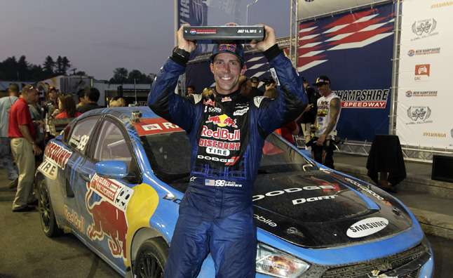 Travis Pastrana Takes Home First Global RallyCross Win in his Dodge Dart