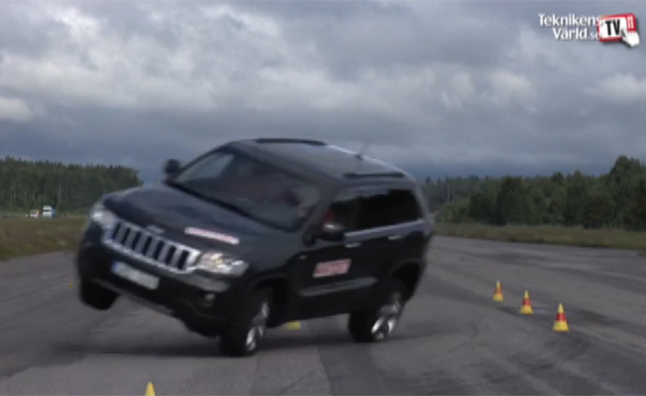 "Jeep Grand Cherokee Fails ""Moose Test"" by Swedish Publication"