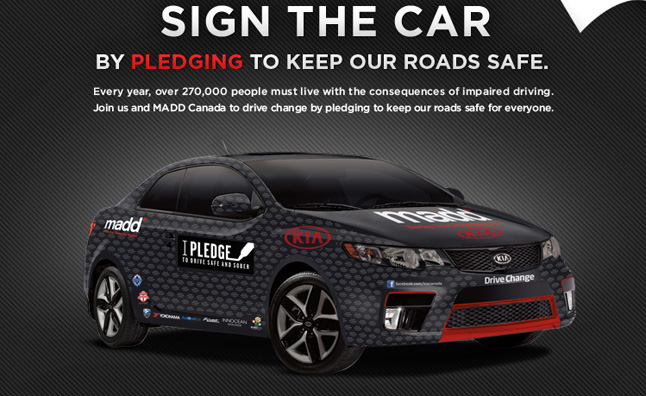 Kia Forte Koup to Compete at Targa Newfoundland Promoting MADD Canada