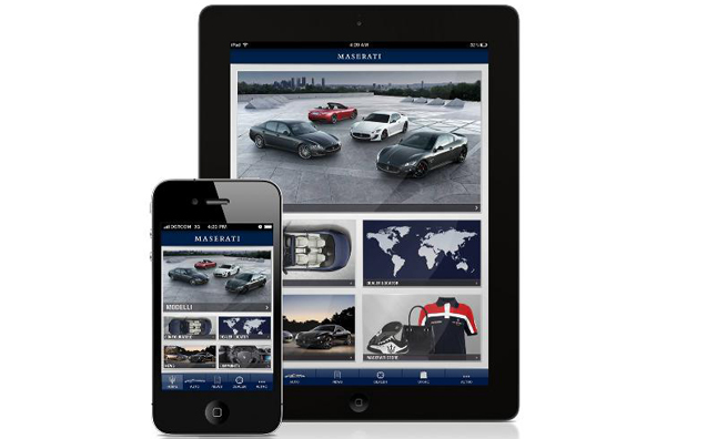 Maserati Passion App is Mobile Configurator, Noise Maker