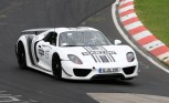 Porsche 918 Spyder Laps the 'Ring in Martini Livery – Spy Photos