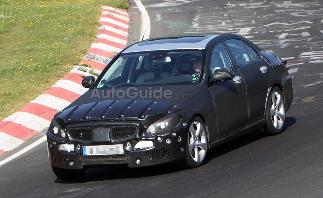 2014 Mercedes C-Class Caught on the Track- Spy Photos