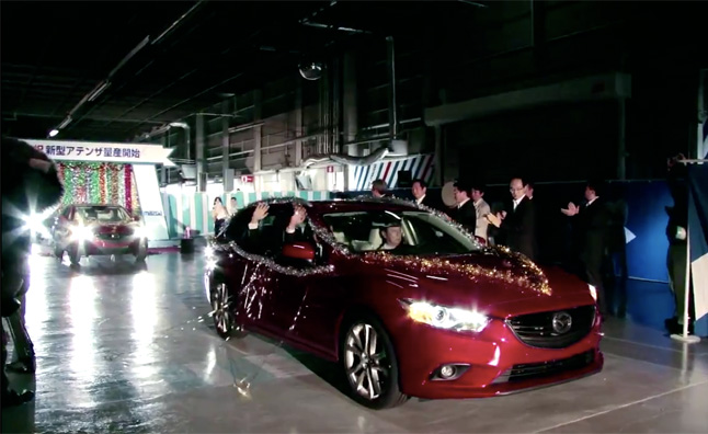 2014 Mazda6 Wagon Rolls Off Assembly Line – Video