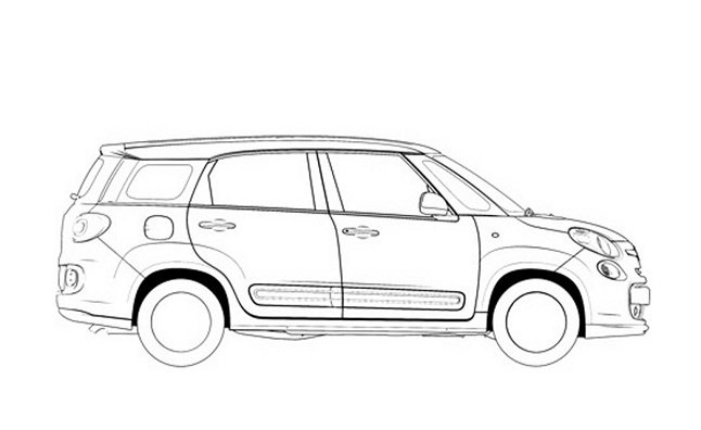 Fiat 500XL Patent Drawings Leaked