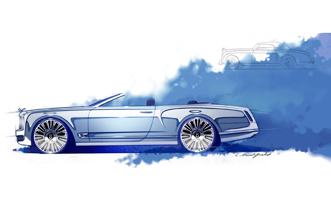 Bentley Mulsanne Convertible Concept Rendering Revealed
