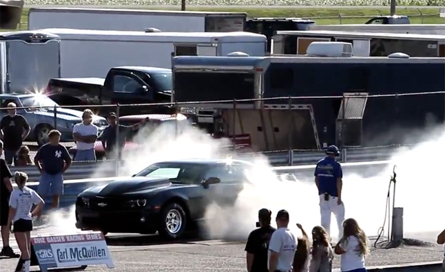 Chevrolet COPO Camaro Runs 8.88 Second Quarter Mile – Video