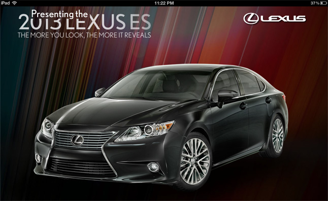 2013 Lexus ES Gets an iPad App