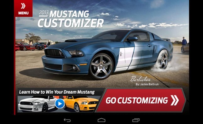 Ford Mustang Configurator for iOS, Android Available