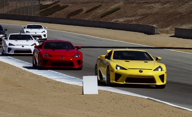 Watch 16 Lexus LFAs On Track at Laguna Seca