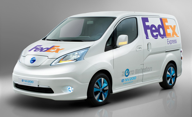 Nissan Unveils e-NV200 Panel Van Bound for FedEx
