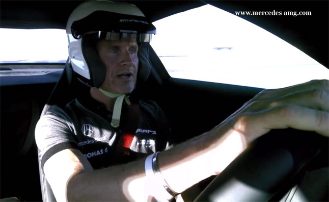 David Coulthard Takes SLS AMG GT Around Nürburgring