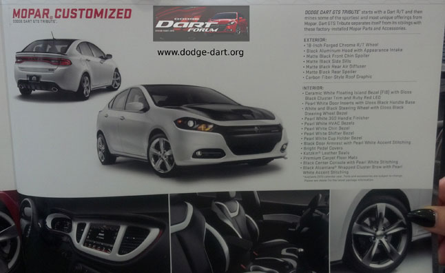 Dodge Dart GTS Tribute Package Details Leaked