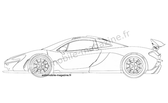 McLaren P1 Production Car Shown in Patent Drawings?