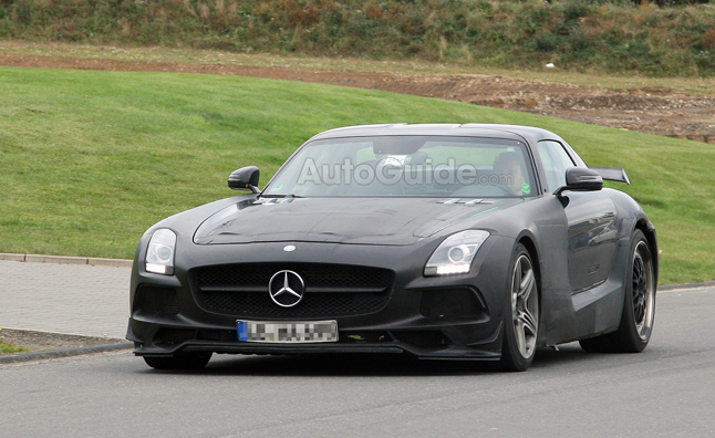 Mercedes SLS AMG Black Series Gets Big Wing