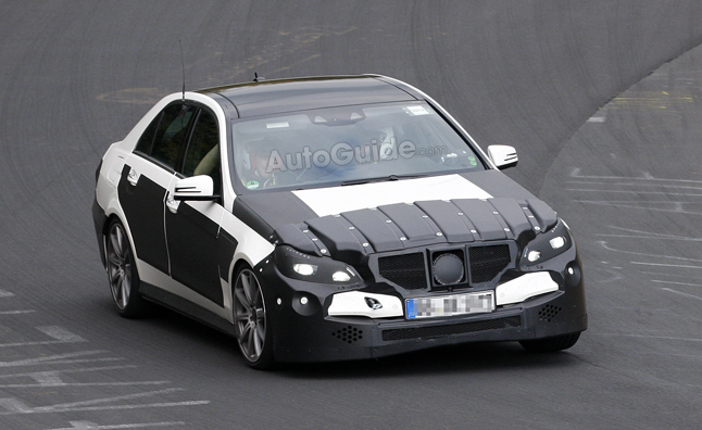 Facelifted Mercedes E63 AMG Spied With Heavy Camo