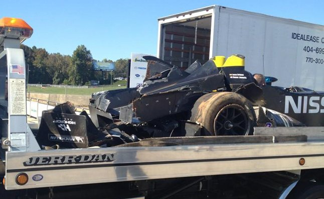 Nissan Delta Wing Crashes During Petit Le Mans Testing