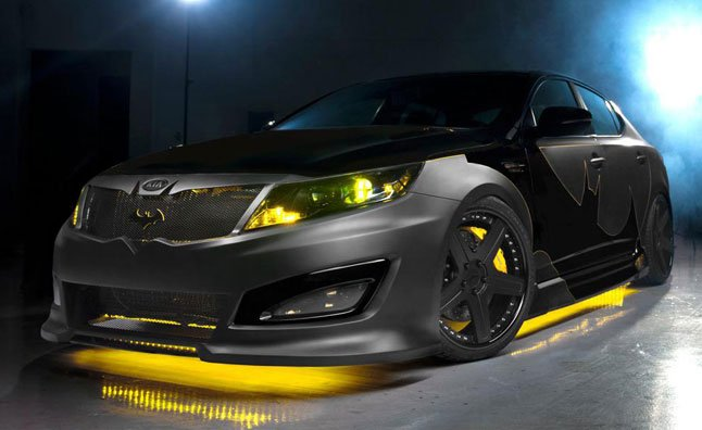 Batman Themed Kia Optima on Display