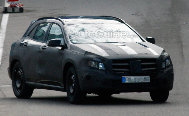 Mercedes GLA Crossover Confirmed in Spy Photos