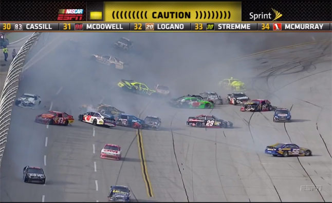 Watch NASCAR's Epic 25 Car Crash at Talladega – Video