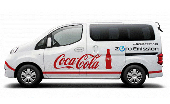 Nissan e-NV200 Being Tested by Coca-Cola