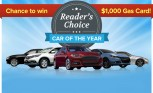 Vote for the AutoGuide Reader's Choice Car of the Year for a Chance to Win $1,000 in Gas