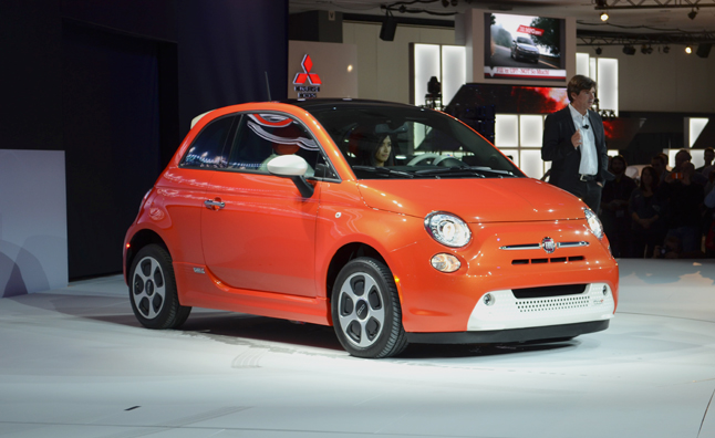 Fiat 500e is Orange, White, Electric: 2012 LA Auto Show