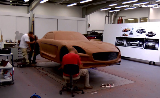 Mercedes SLS AMG Black Series Clay Model Sculpted in Video