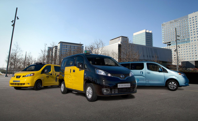 Nissan NV200 Taxi Ready for Service in Barcelona, Spain
