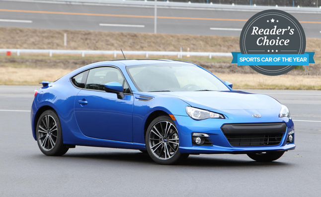 Subaru BRZ Named 2013 AutoGuide.com Reader's Choice Sports Car of the Year