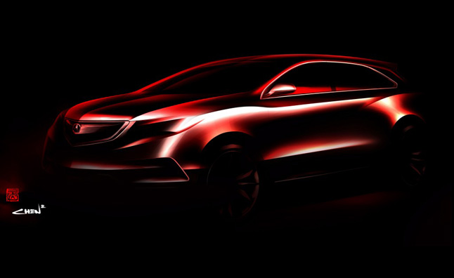 2014 Acura MDX Prototype Teased, Heading to 2013 Detroit Auto Show