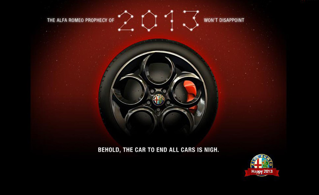 Alfa Romeo 4C Teased Before 2013 Geneva Reveal