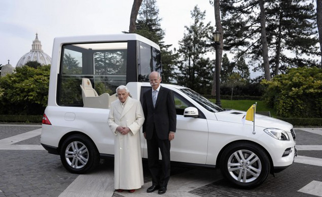 2013 Mercedes M-Class is the Latest Pope Mobile
