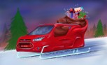 Ford Transit Connect Wagon Sleigh is Ready for Santa