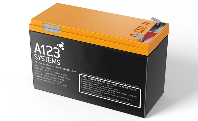 Chinese Company Wins Auction for A123 Systems