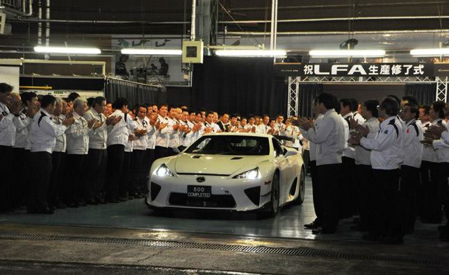 Final Lexus LFA Celebrated at Automaker's Plant