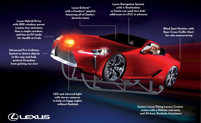 Lexus Flying Luxury Cruiser is an LF-LC Made for Santa