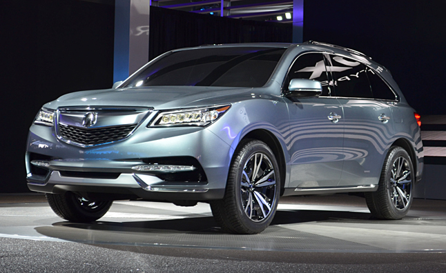 2014 Acura MDX Prototype Gets New V6, Jewel Eye Lights: 2013 Detroit Auto Show