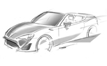 Toyota GT86 Convertible Teased Ahead of Geneva Motor Show Debut