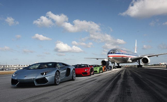 Lamborghini Aventador LP 700-4 Roadsters Take on Airport Runway