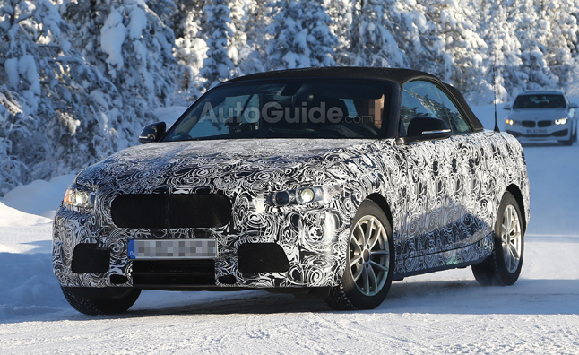 2014 BMW 2 Series Convertible Spied in the Snow
