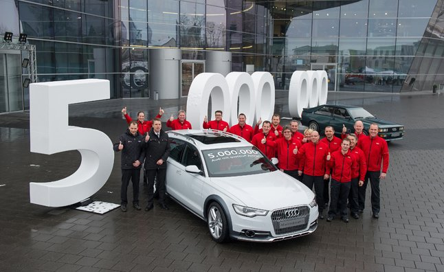 Audi Celebrates Building 5 Million Quattro Vehicles