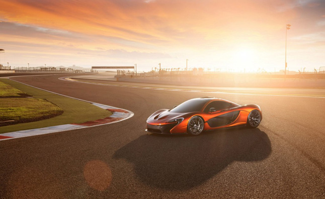 McLaren P1 Poses at Bahrain International Circuit