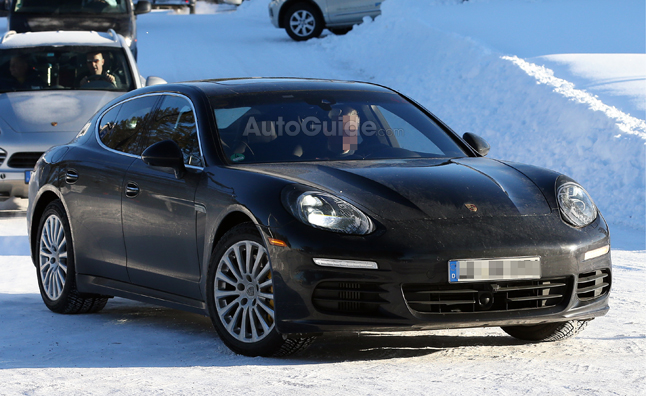 2014 Porsche Panamera Update Spied Testing in the Snow