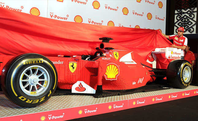 Full Scale Lego Ferrari Formula 1 Car is Every Kid's Dream